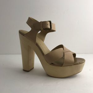 Levity Wooden and Leather Platform Sandal